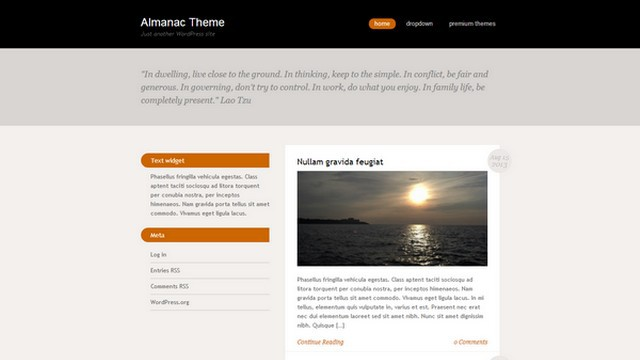 Almanac Free WordPress Theme from Viva Themes