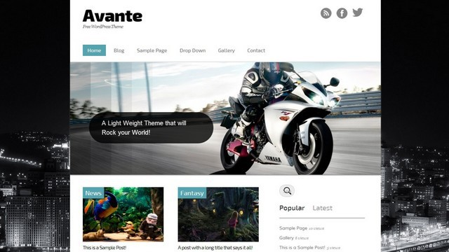 Avante Free WordPress Theme by BlogOhBlog
