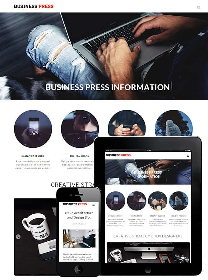 Business Press WP theme