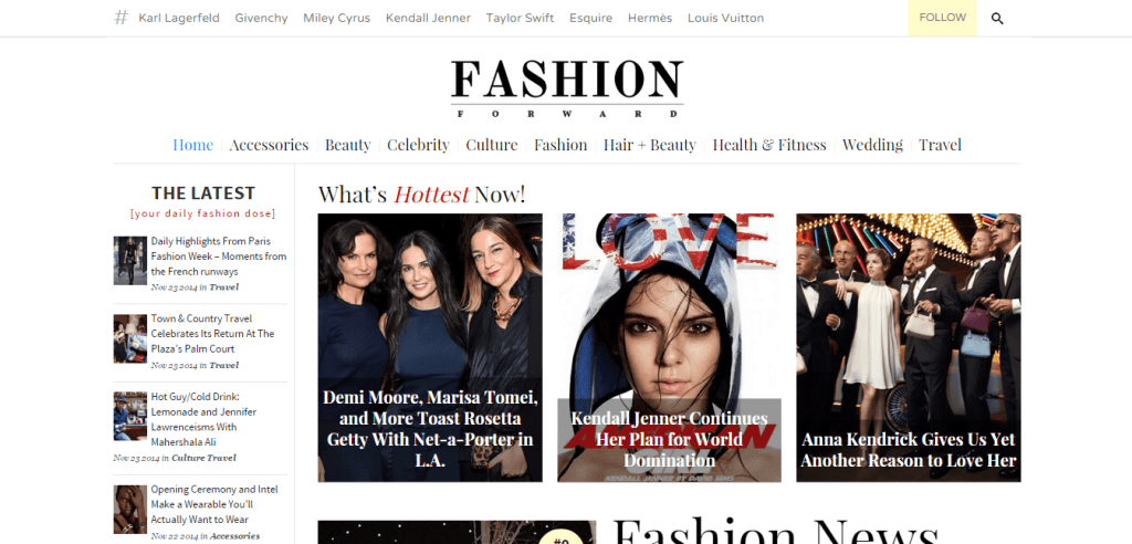 Fashion Magazine Theme