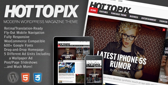 Hot Topix - Modern WordPress Magazine Theme