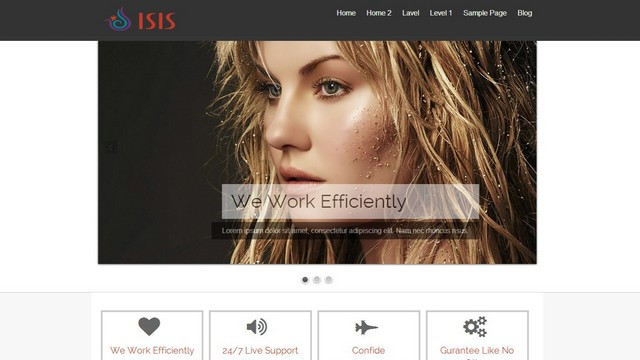 Isis Free Responsive and Retina Ready WordPress Theme
