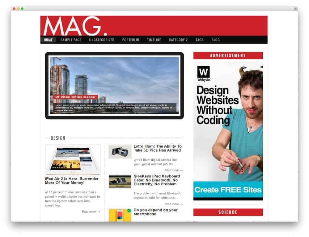 Mag WordPress Theme