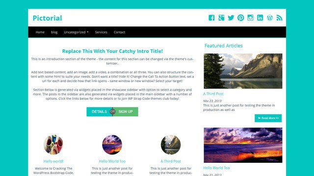 Pictorial Free WordPress Theme