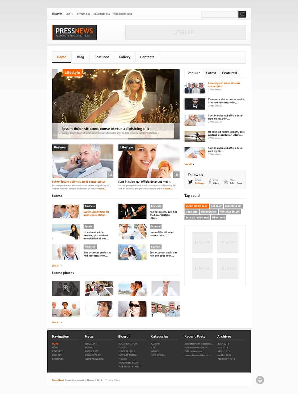Pressnews theme by templatemonster