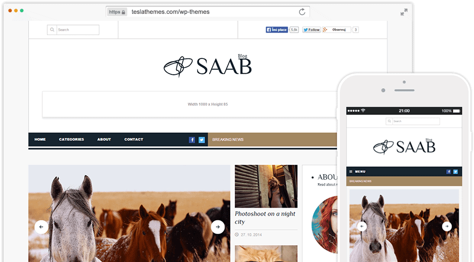 SAAB ad ready BLOG WORDPRESS THEME