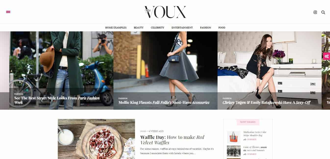 The Voux Comprehensive Magazine Theme