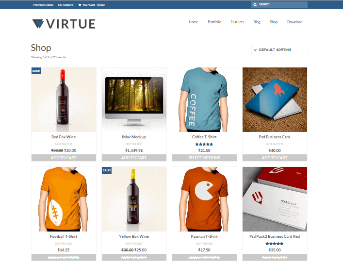 Virtue Lite Free Woocommerce WordPress Theme