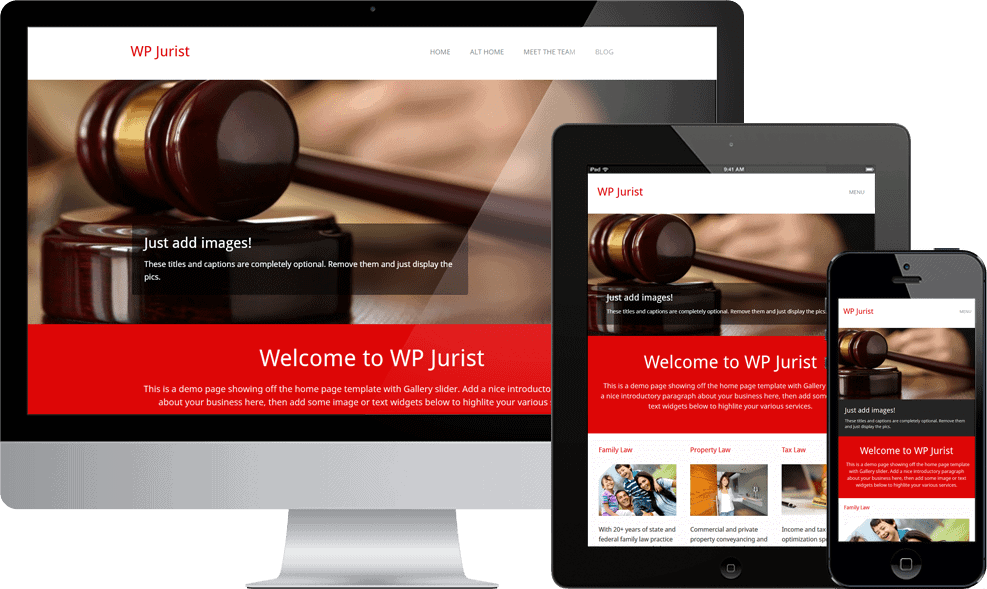 WP Jurist Free WordPress Theme from WP Dev Shed