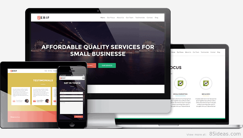 Zerif Lite Free One Page WordPress Theme