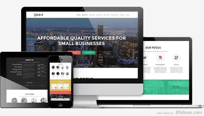 Zerif Pro Business WordPress Theme