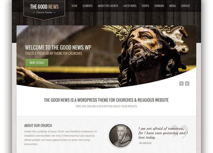goodnews church wordpress themes