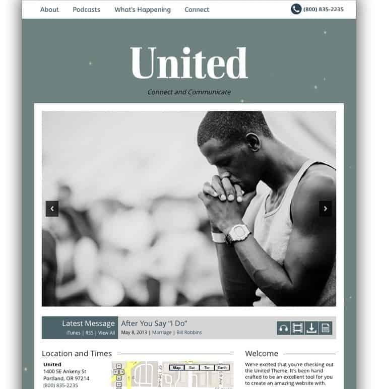 united church theme