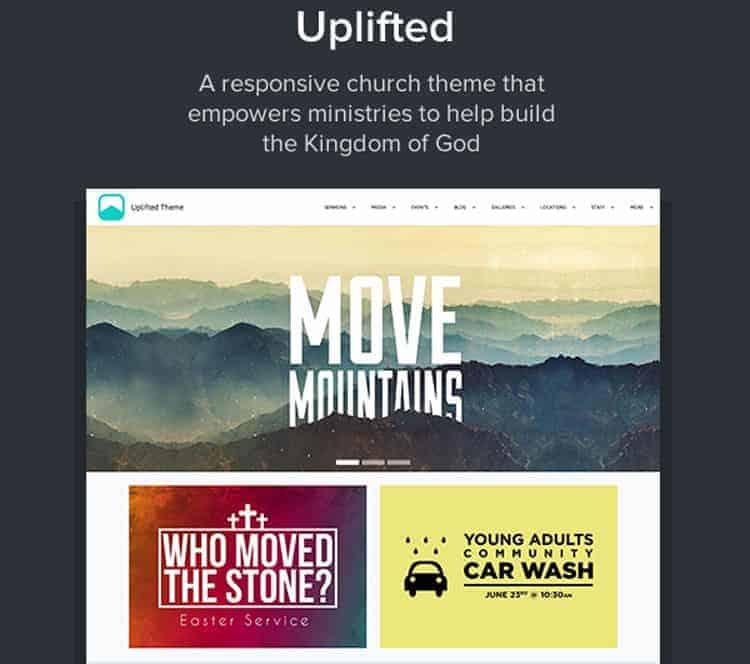 uplifted church wordpress themes