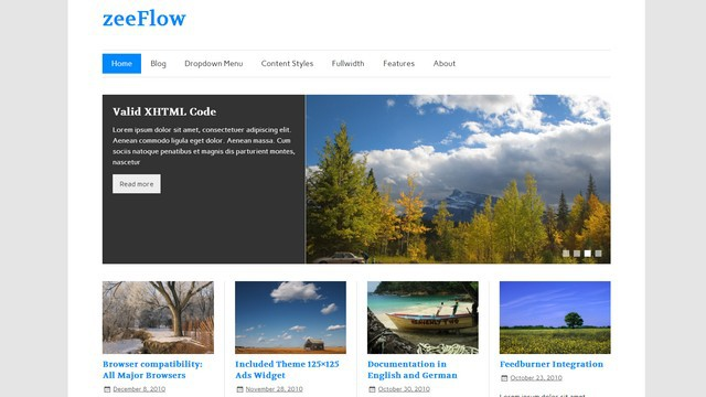 zeeFlow Free WordPress Theme from ThemeZee