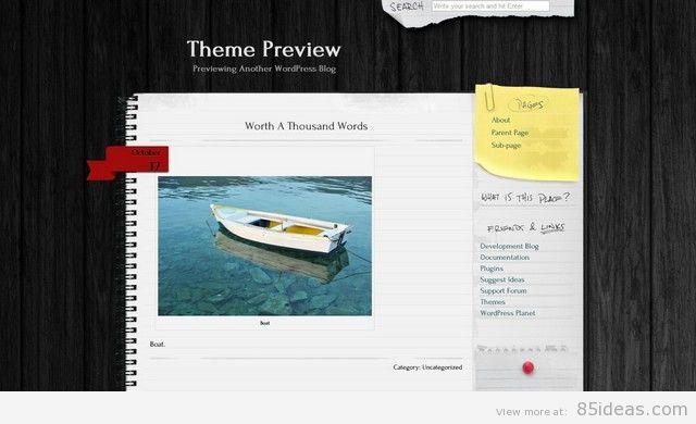 Anarcho Notepad Free WordPress Theme