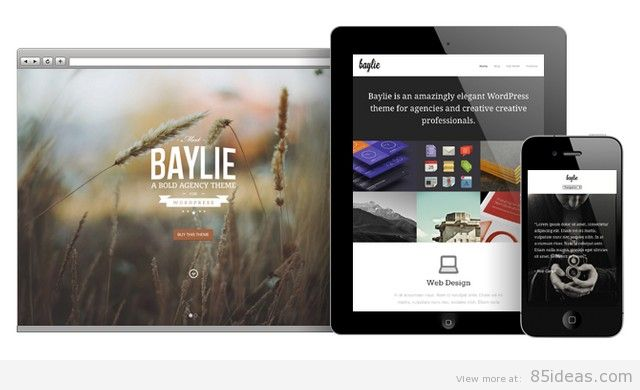 Baylie Full Screen WordPress Theme
