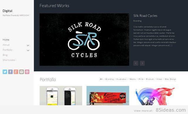 Digital WordPress Portfolio Theme