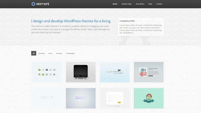 Element Portfolio WordPress Theme
