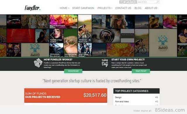 Fundler Free WordPress Theme