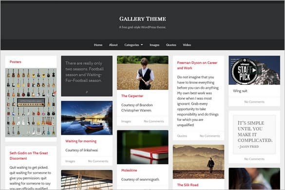 Gallery Portfolio WordPress Theme