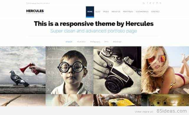 Hercules Portfolio WordPress Theme