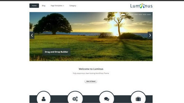 Luminus is a Free WordPress Theme