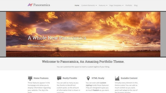 Panoramica Portfolio WordPress Theme