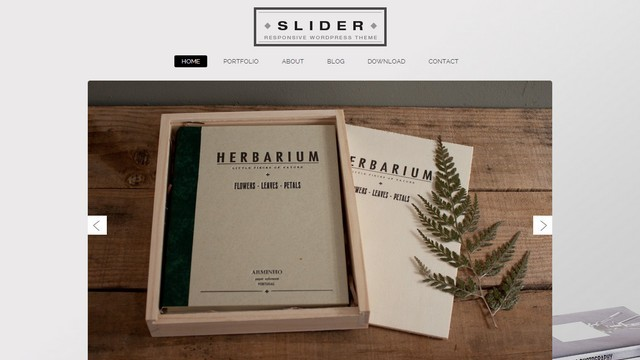 Slider Portfolio WordPress Theme