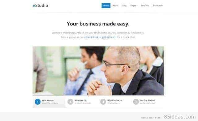 eStudio Portfolio WordPress Theme