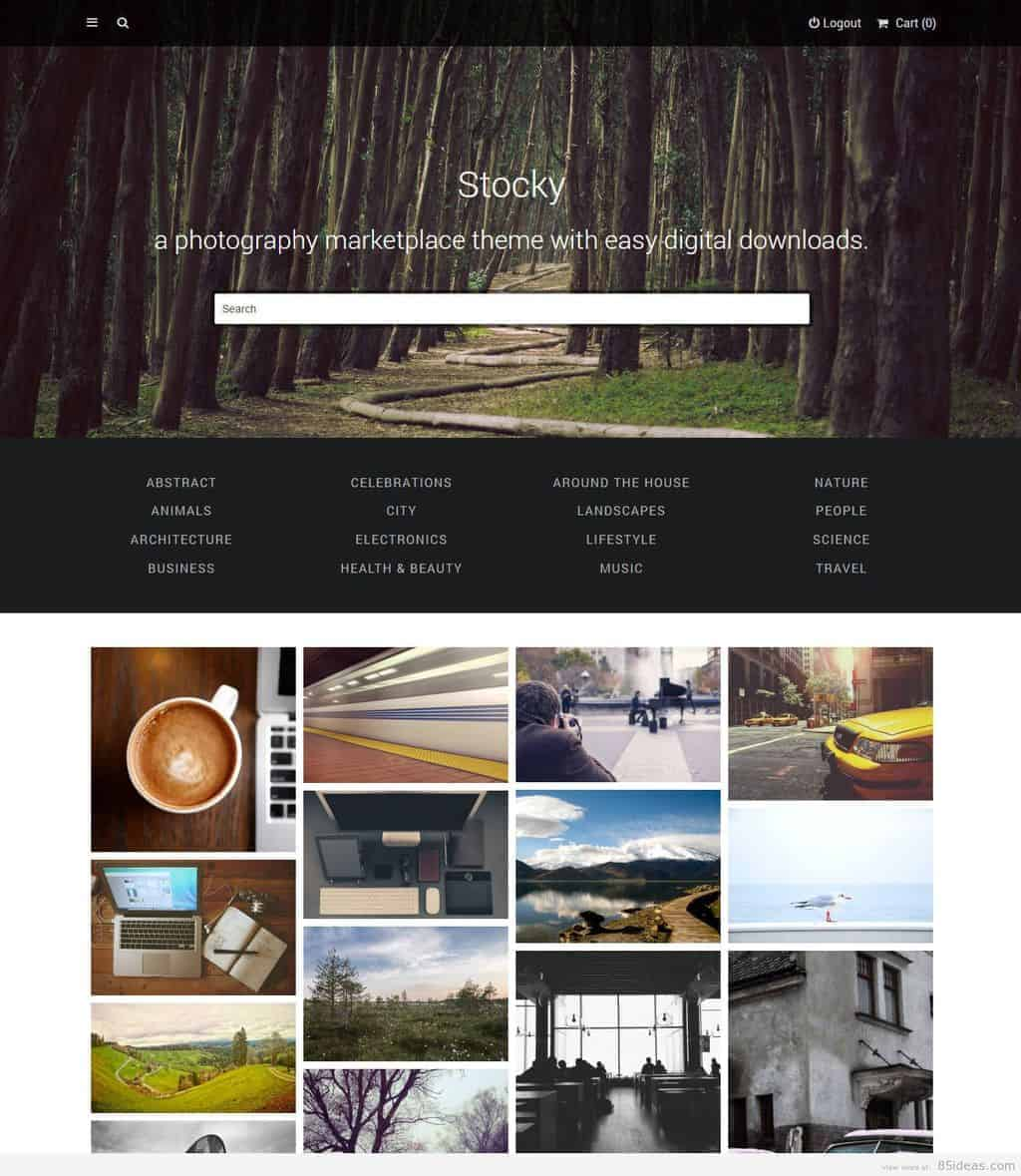 Stocky photography marketplace theme