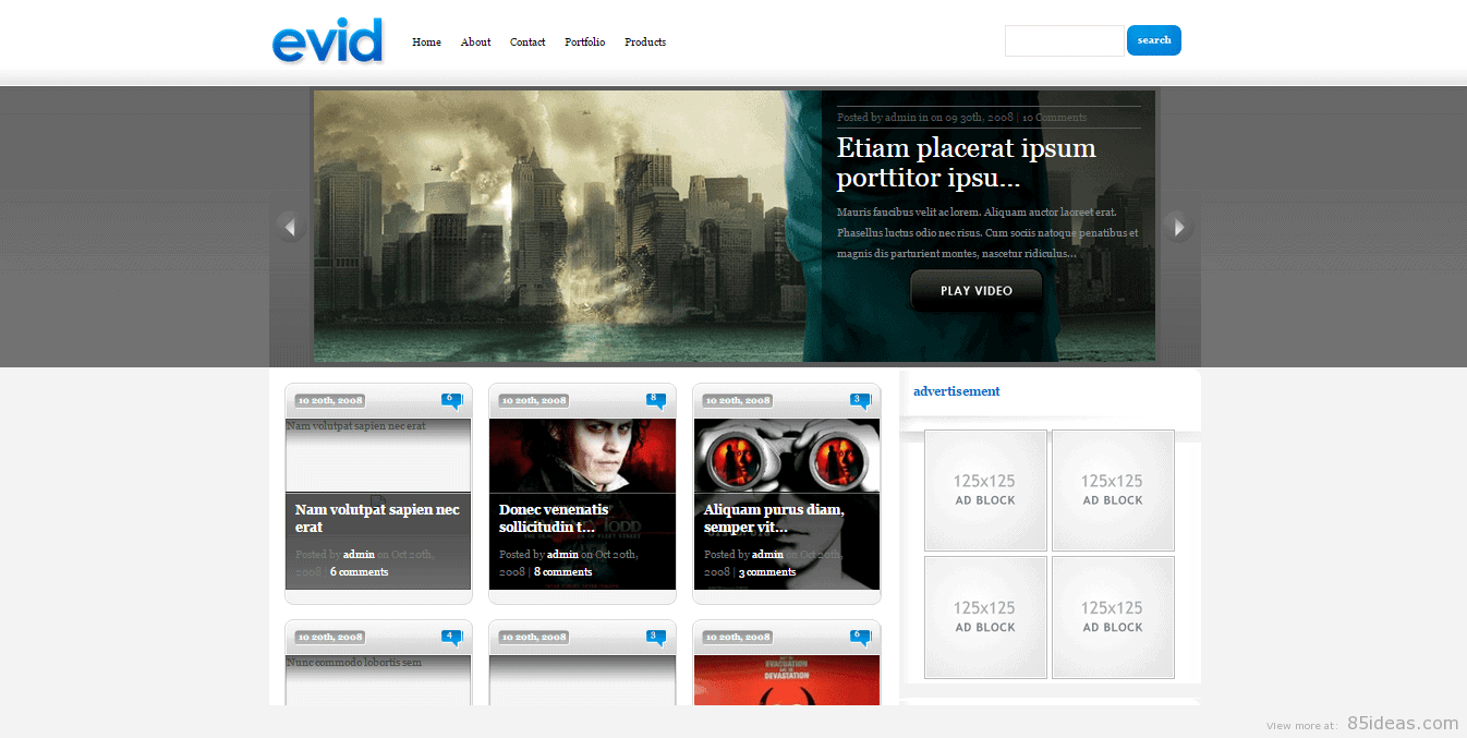 eVid WordPress Video Theme