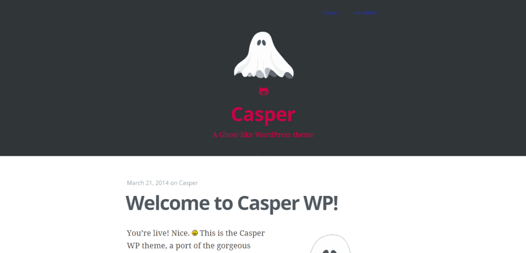 Casper theme