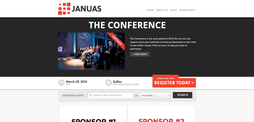 Januas Event WordPress Theme