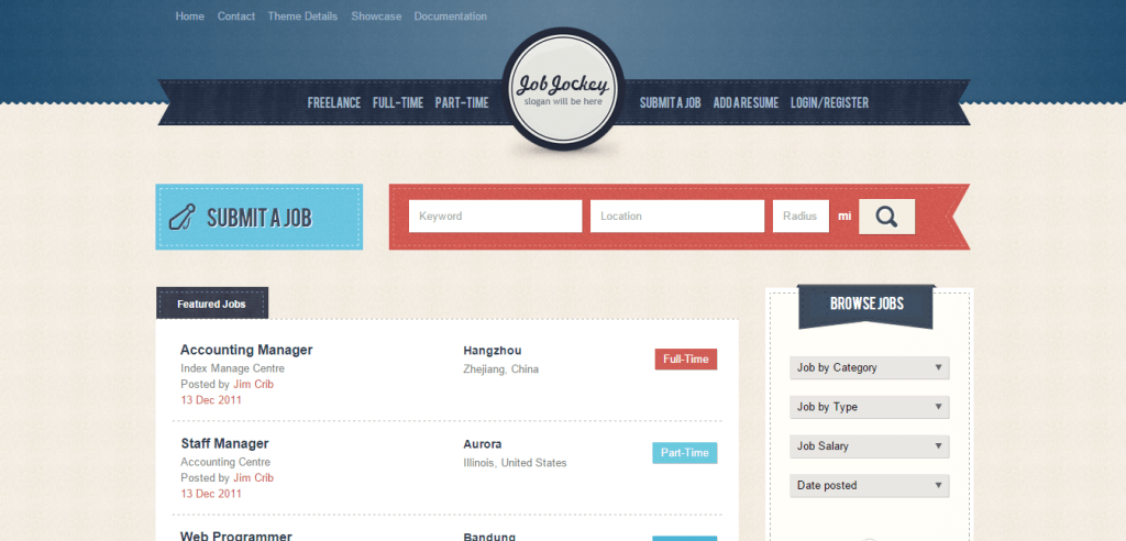 JobJockey Job Listing WordPress Theme
