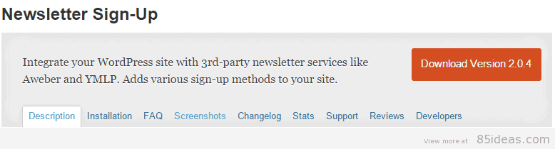Newsletter Sign Up Plugins