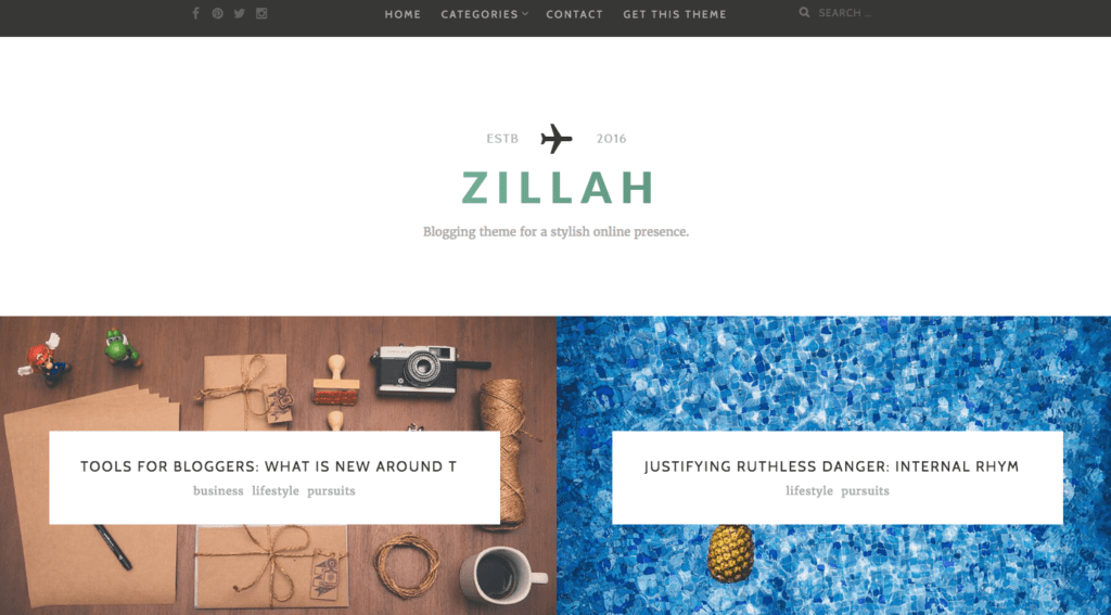 Zillah Premium WordPress Theme