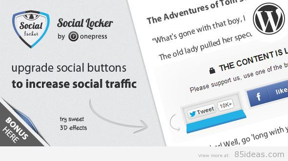 Social Locker for WordPress