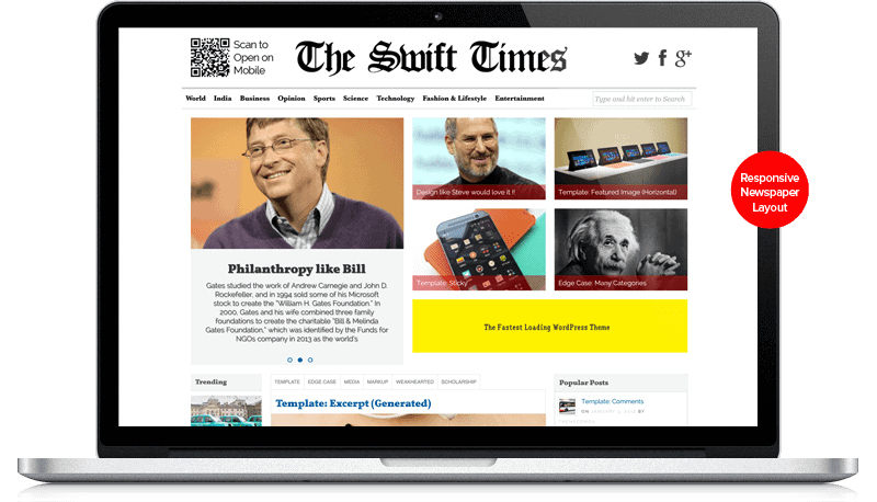 Swift Themes New-News-Paper-Layout