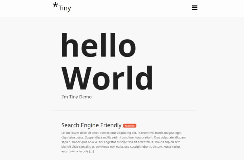 tinypress theme