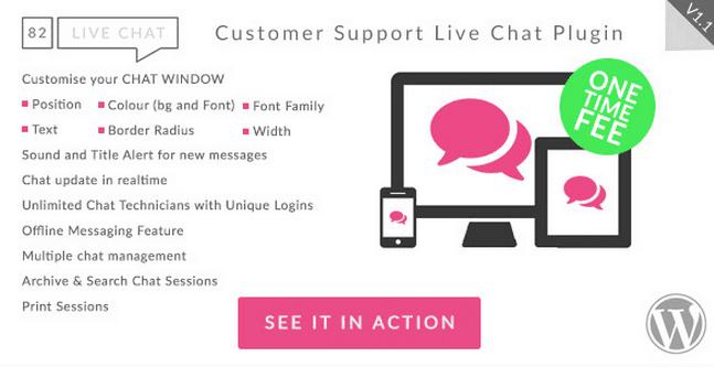 82 Live Chat WordPress Plugin