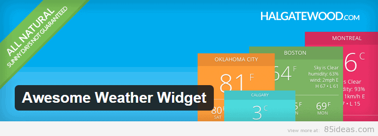 Awesome Weather Widget Plugin