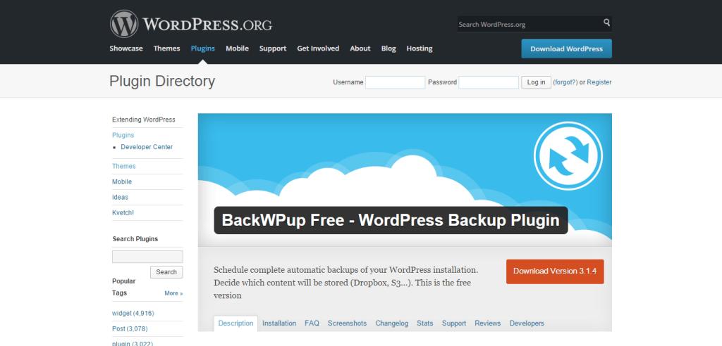 BackWPup Free Plugin