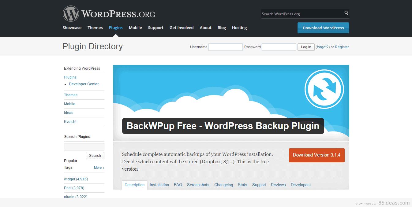 Gratis Backup Wordpress