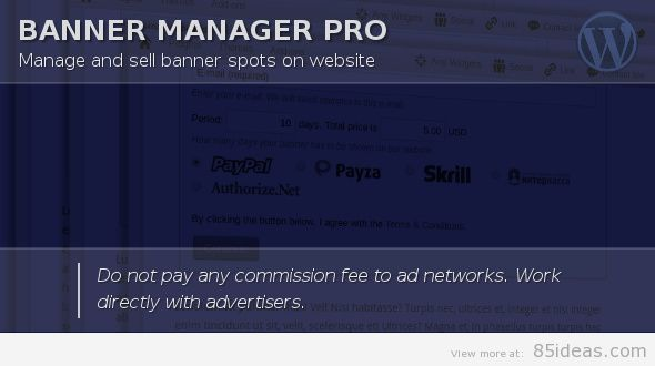 Banner Manager for WordPress
