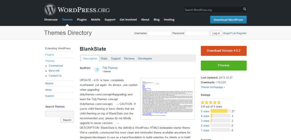 BlankSlate WordPress Themes