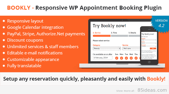 Bookly WP Appointment Booking Scheduling Plugin