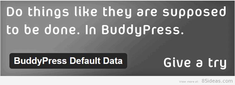 BuddyPress Default Data Plugin