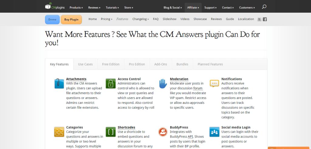 CM Answers Plugin