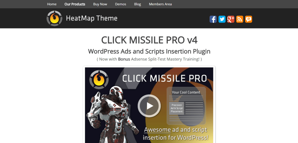 Click Missile Ads Plugin